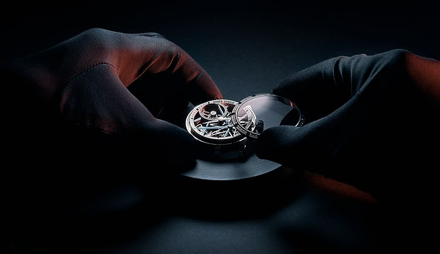 Roger dubuis watch being serviced
