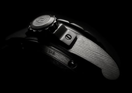 Knights of the Round Table Damascus Titanium watch detail