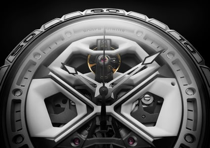 Excalibur Spider Huracàn White Ceramic Composite Fiber 45mm