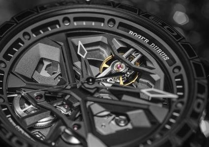 Excalibur Spider Huracán Black DLC Titanium 45mm