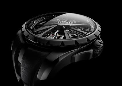 Diabolus In Machina Black DLC Titanium watch detail