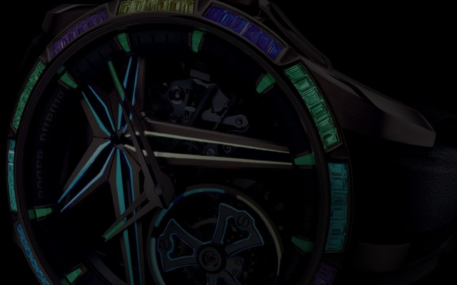 Roger Dubuis Excalibur collection glow me up detail