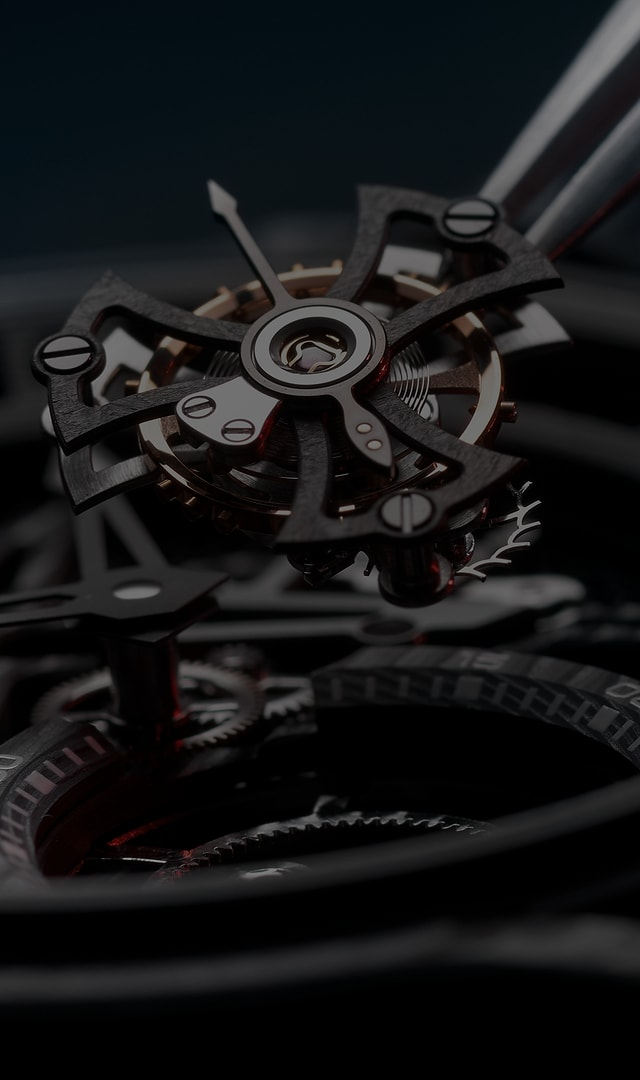Roger Dubuis, Hyper Watches main visual, close up on tourbillon in case
