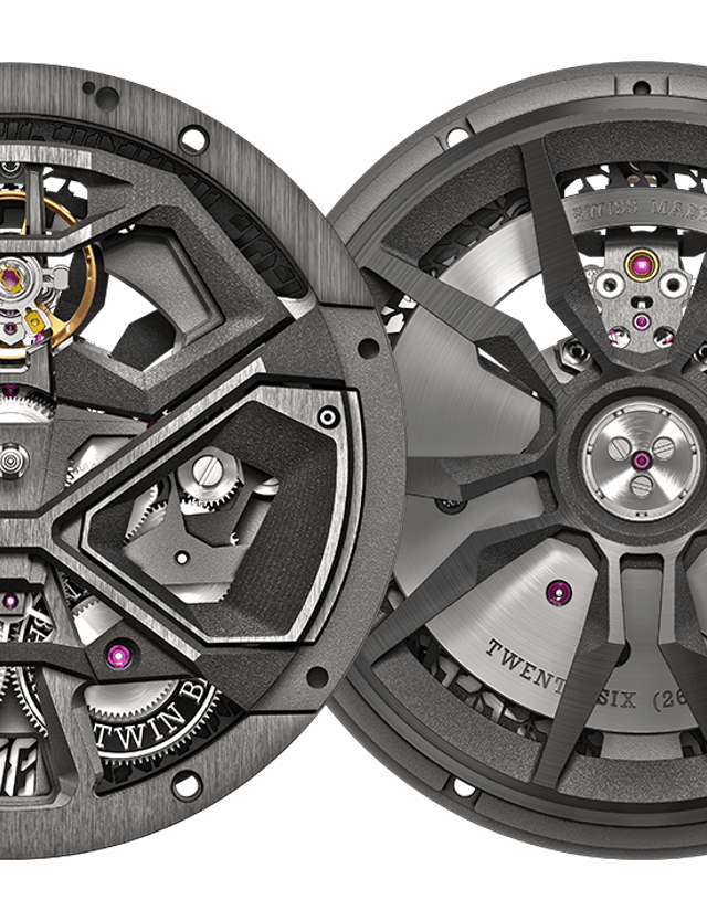 Roger Dubuis font and back RD630 caliber details