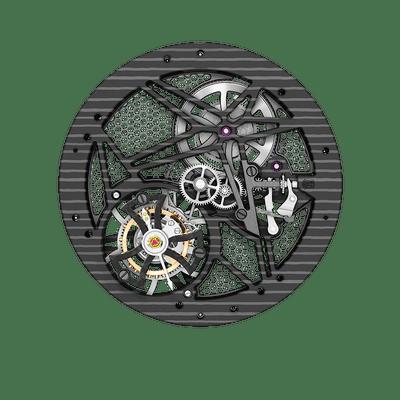 RD509SQ | Skeleton flying tourbillon