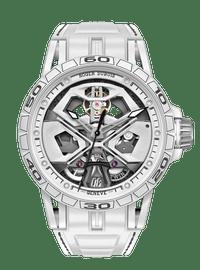 Excalibur Spider Huracán White Ceramic Composite Fiber 45mm
