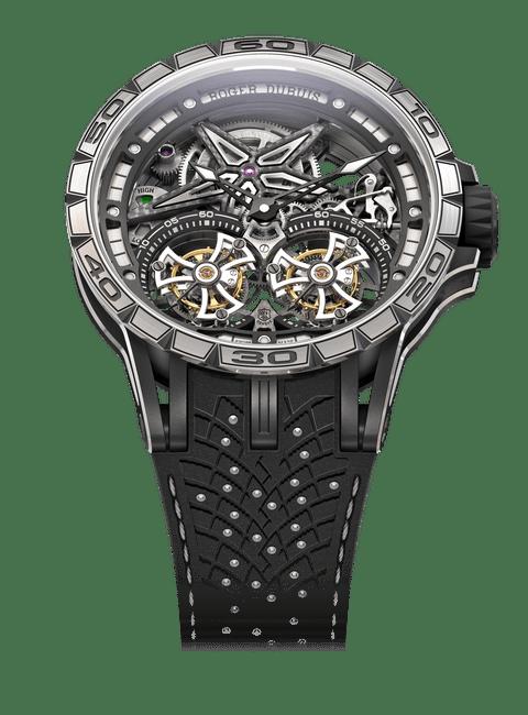 Excalibur Spider Pirelli Black DLC Titanium 47mm