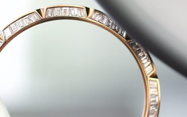 Roger Dubuis our commitment diamond bezel detail
